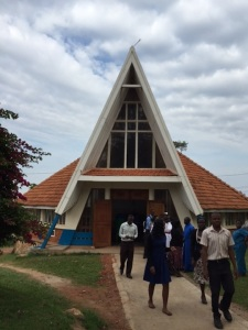 A view of the Mengo Hospital Chapel from the outside
