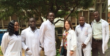 The Pharmacy Interns of Mengo Hospital and myself (left to right: Wendy, Hassan, Sam, KarenBeth, Robin, Isaac)