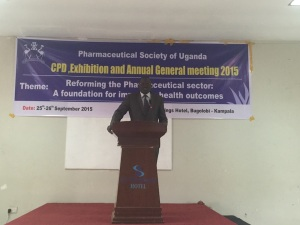 Sam Opio, the Secretary of PSU, opens the Conference