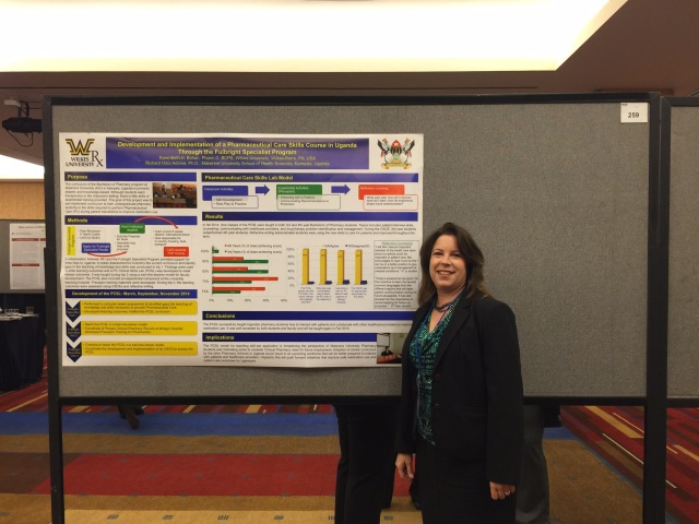 Presenting the Poster on the Fulbright Specialist Program.