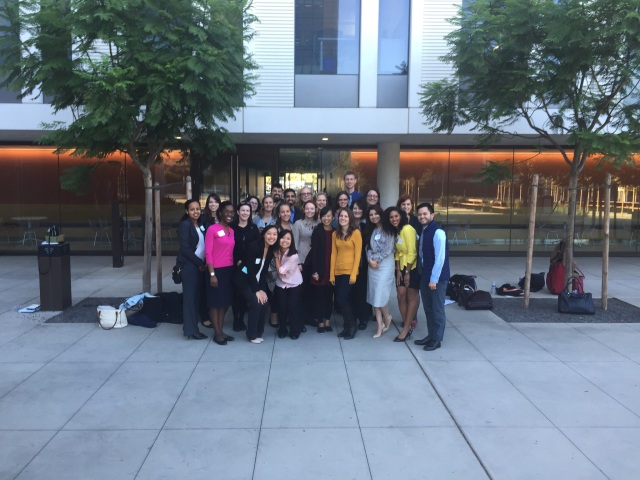 This is the Apoteko group, in front of the Global Health Center on the Mission Bay campus of UCSF
