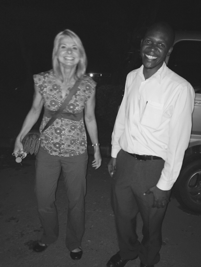 Susan Raber and Freddy Kitutu, one of the Makerere University Faculty Members