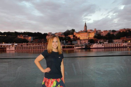 Lauren while participating in an exchange program in Serbia
