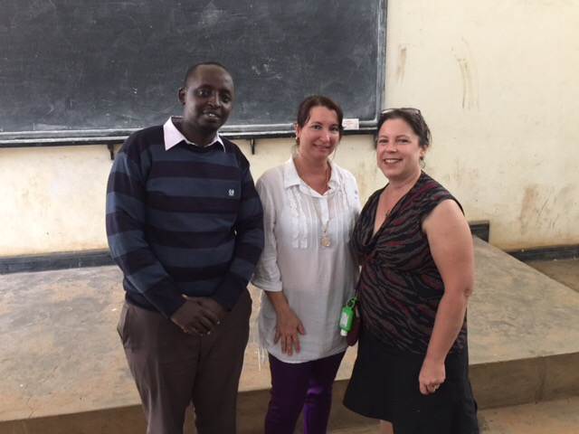 Dr. Bohan with Peter, one of the faculty, and Professor Jennie, the Department Head of Pharmacy
