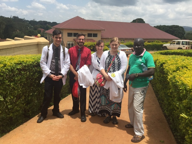 The group with Sam, our Masindi driver whom we love!