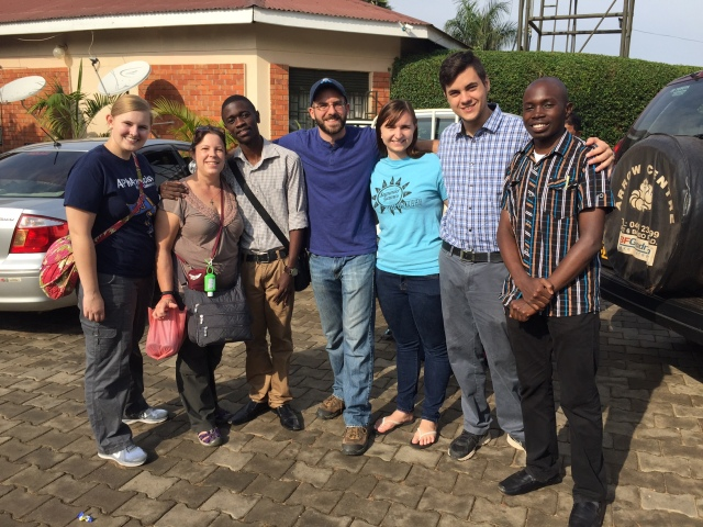 A Fond Farewell to our new friends in Mbarara (Pictured left to right: Jennie, Dr. Bohan, Derrick, Mike, Emily, Nick, Noah)